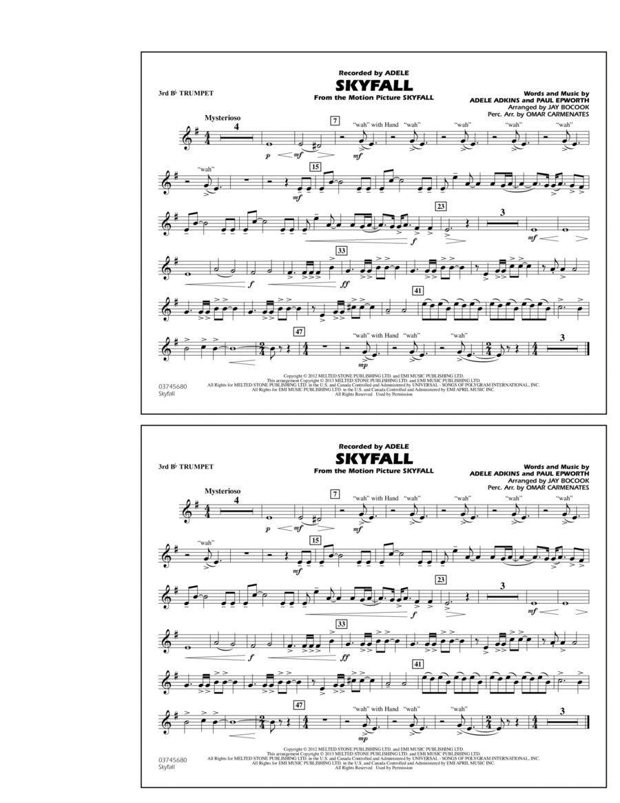 Skyfall - 3rd Bb Trumpet