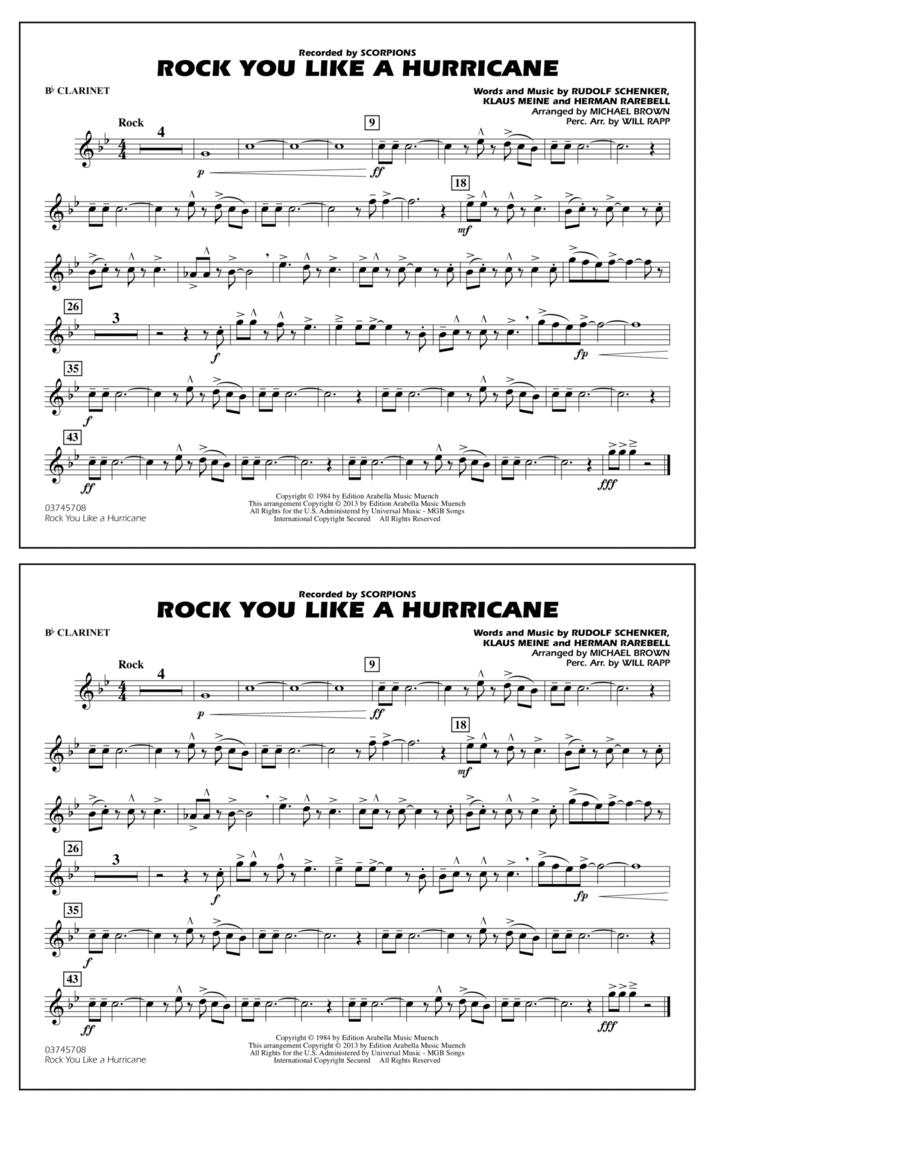Rock You Like a Hurricane - Bb Clarinet