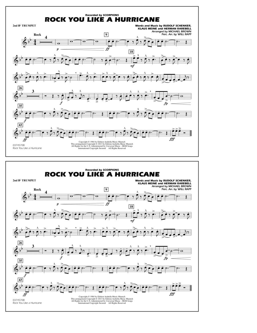 Rock You Like a Hurricane - 2nd Bb Trumpet
