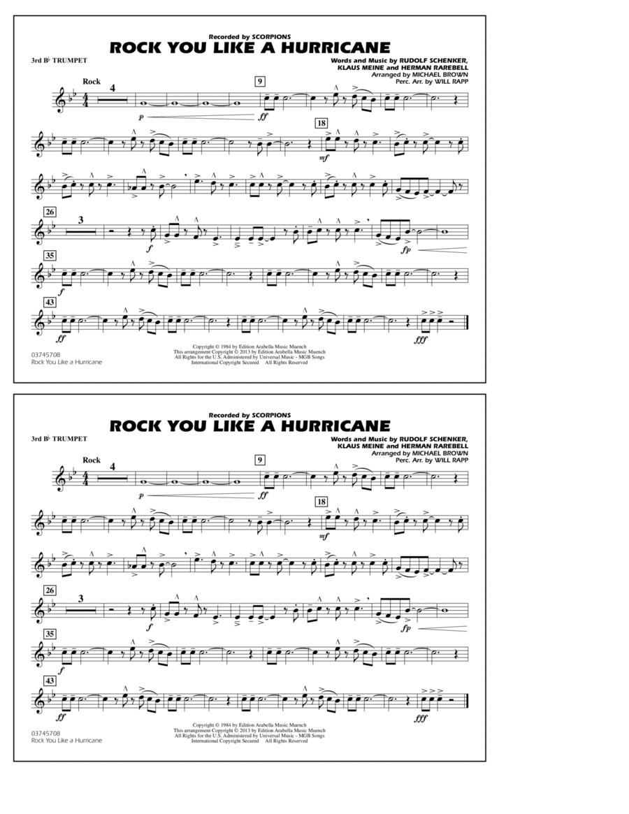 Rock You Like a Hurricane - 3rd Bb Trumpet