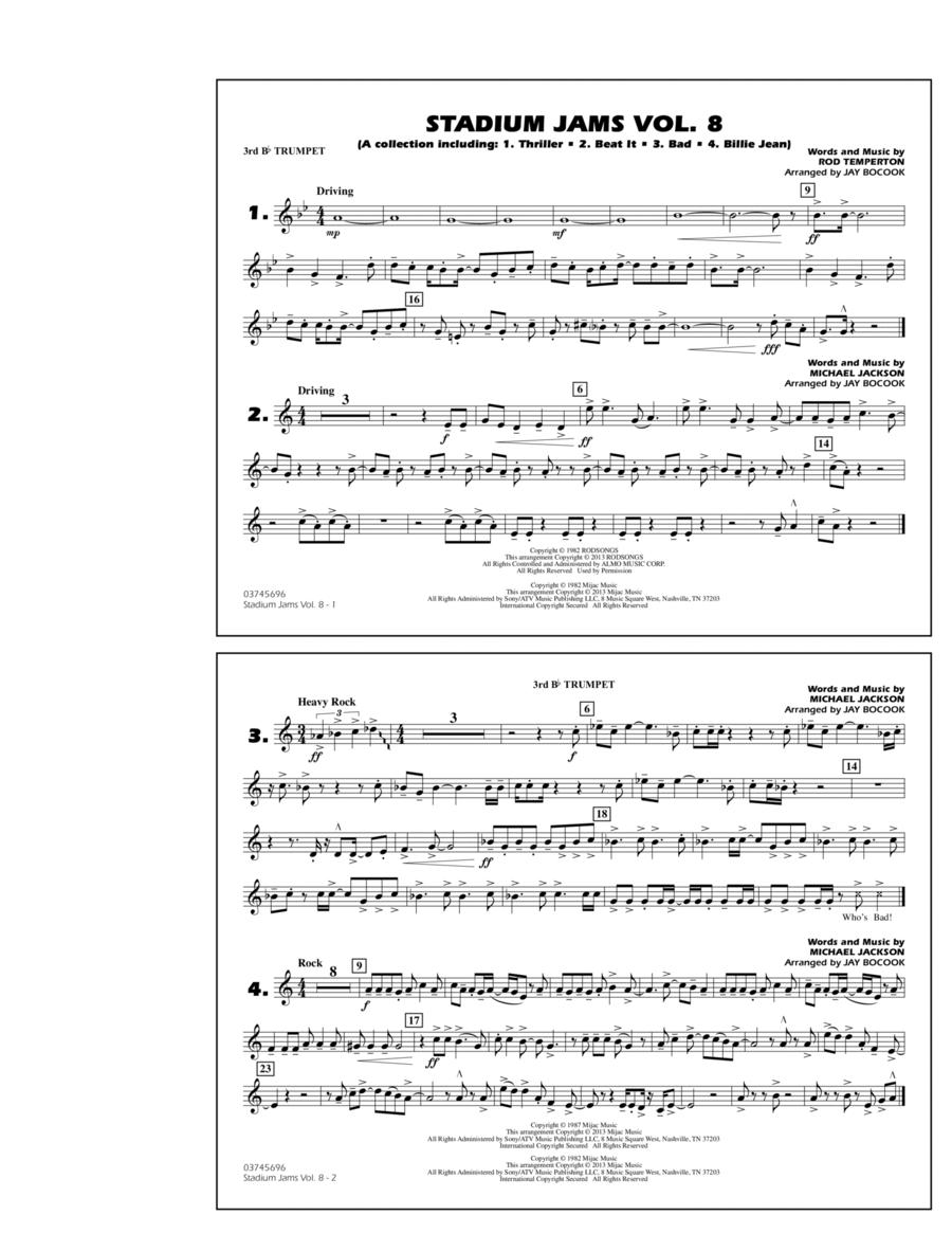 Stadium Jams Volume 8 (Michael Jackson) - 3rd Bb Trumpet