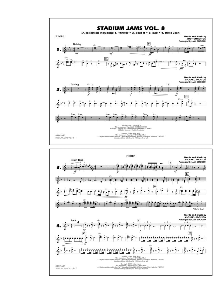 Stadium Jams Volume 8 (Michael Jackson) - F Horn