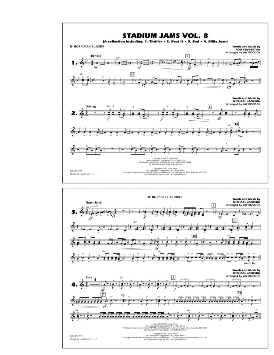 Stadium Jams Volume 8 (Michael Jackson) - Bb Horn/Flugelhorn