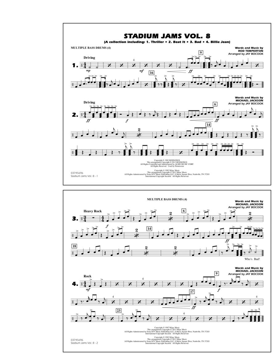 Stadium Jams Volume 8 (Michael Jackson) - Multiple Bass Drums