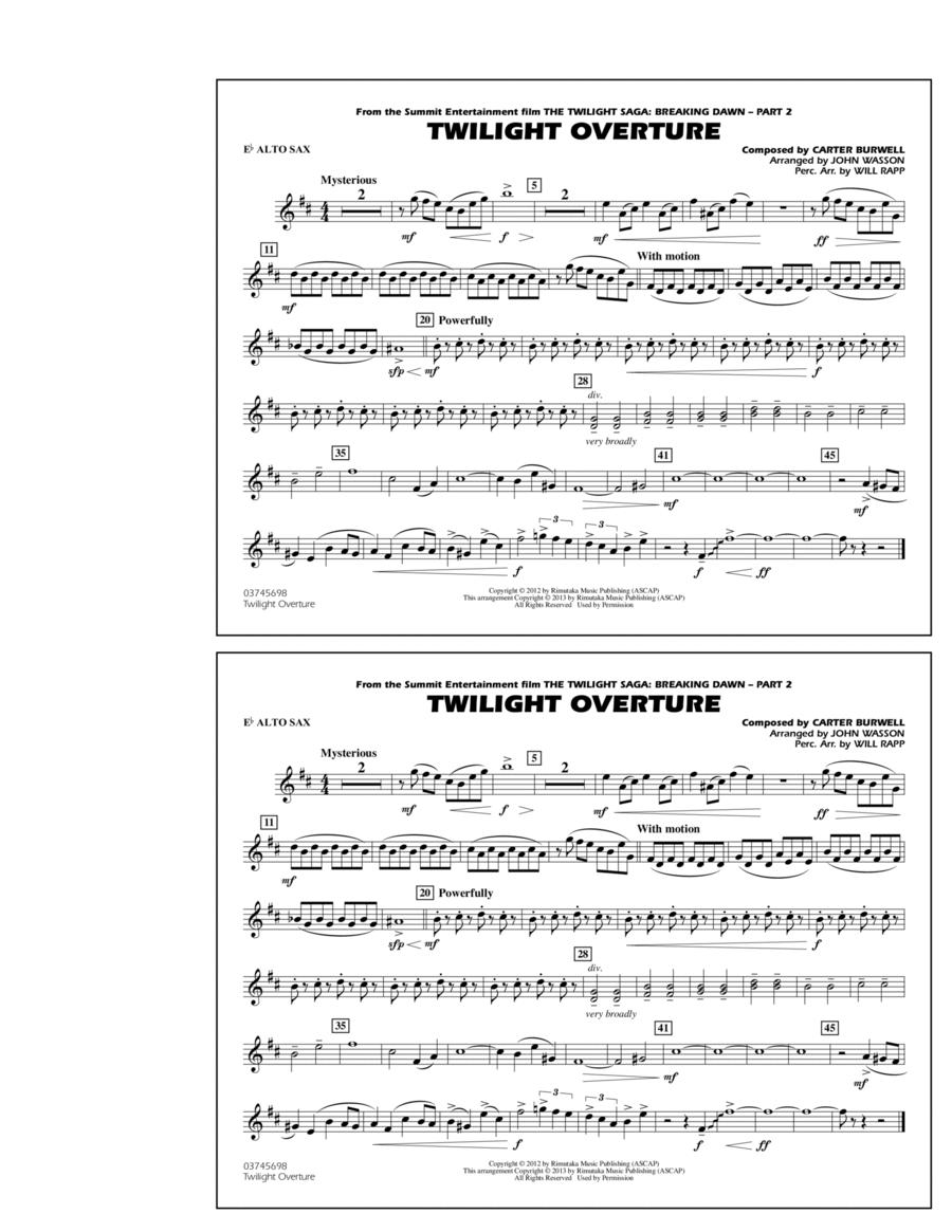 Twilight Overture - Eb Alto Sax