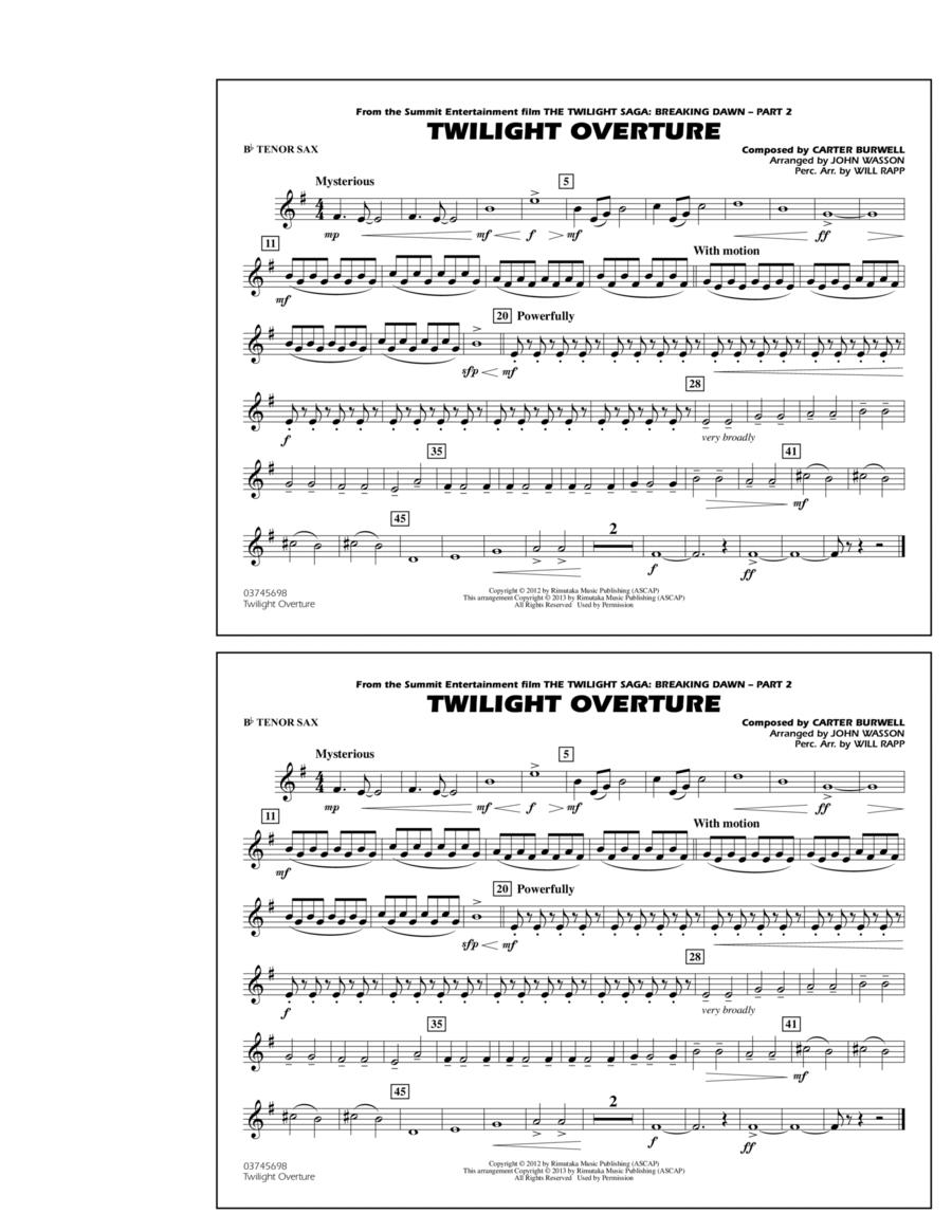 Twilight Overture - Bb Tenor Sax