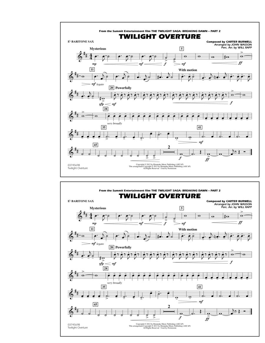 Twilight Overture - Eb Baritone Sax
