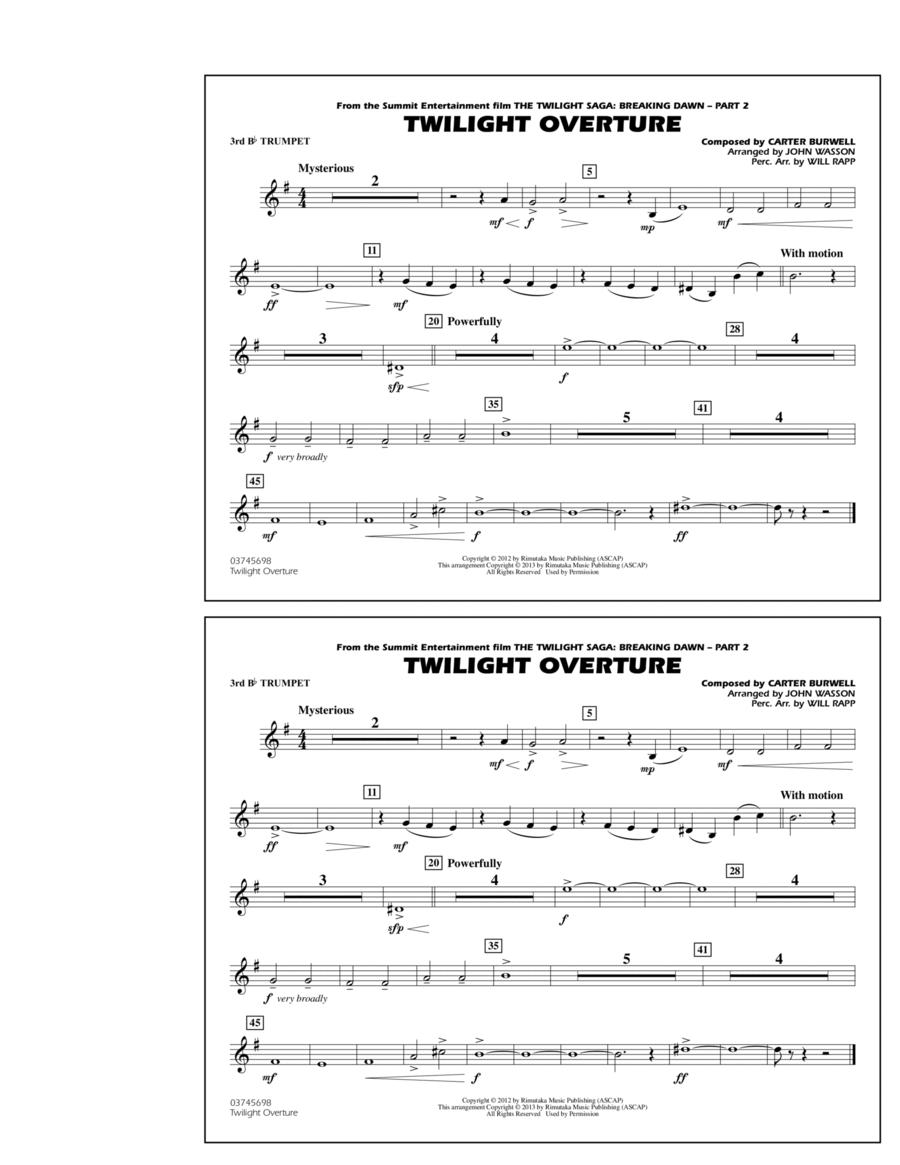 Twilight Overture - 3rd Bb Trumpet