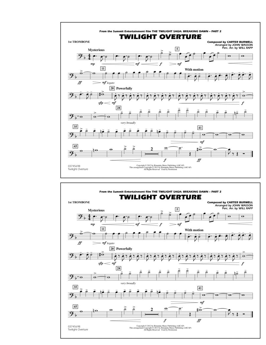 Twilight Overture - 1st Trombone