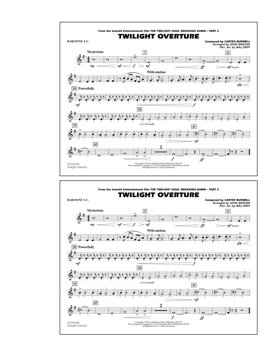 Twilight Overture - Baritone T.C.