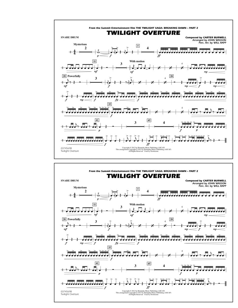 Twilight Overture - Snare Drum