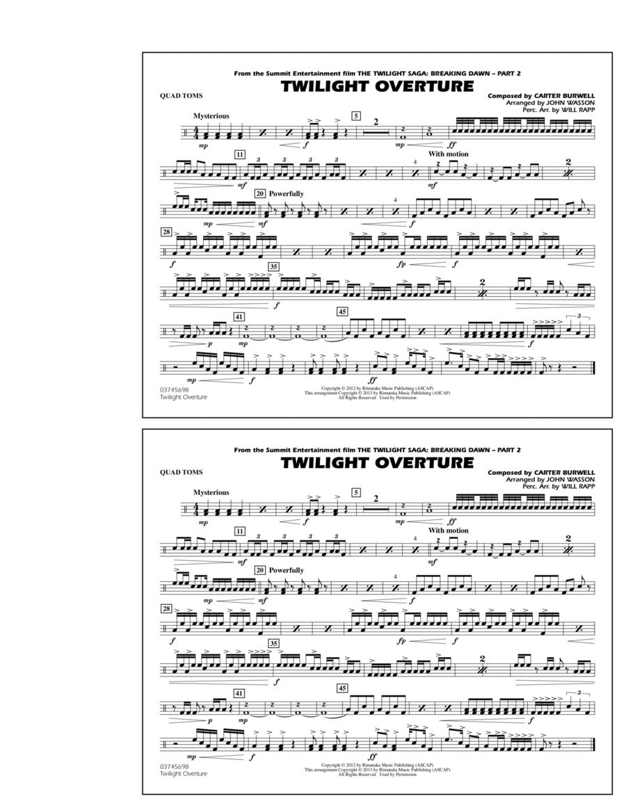 Twilight Overture - Quad Toms