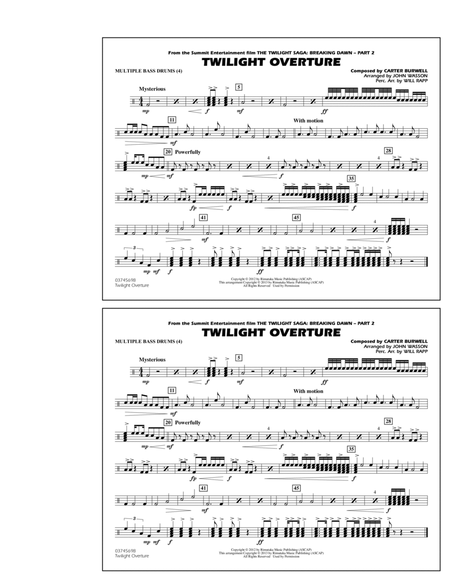 Twilight Overture - Multiple Bass Drums