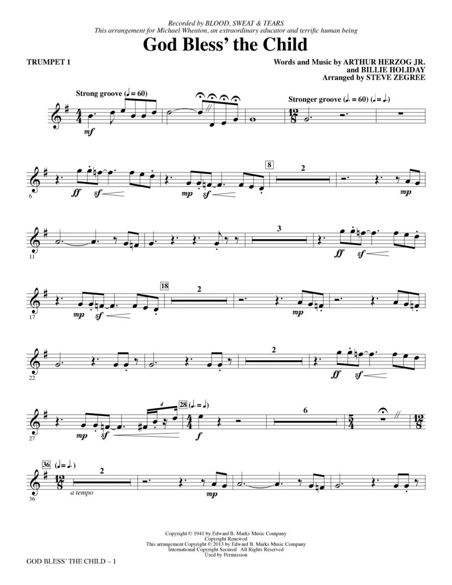 God Bless' The Child - Bb Trumpet 1