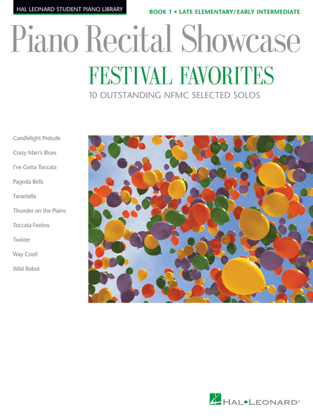 Piano Recital Showcase - Festival Favorites, Book 1