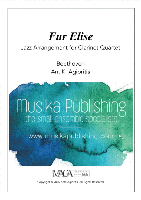 Fur Elise - Jazz Arrangement - for Clarinet Quartet