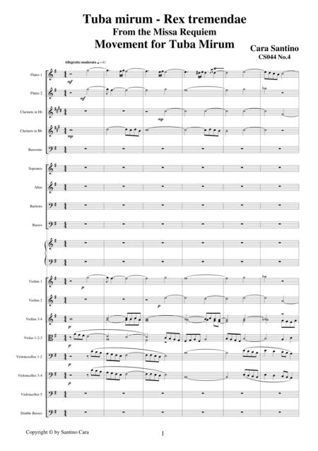 Tuba mirum -Rex tremendae - Sequences from the Missa Requiem CS044
