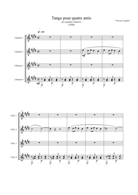 Tango pour quatre amis (score)