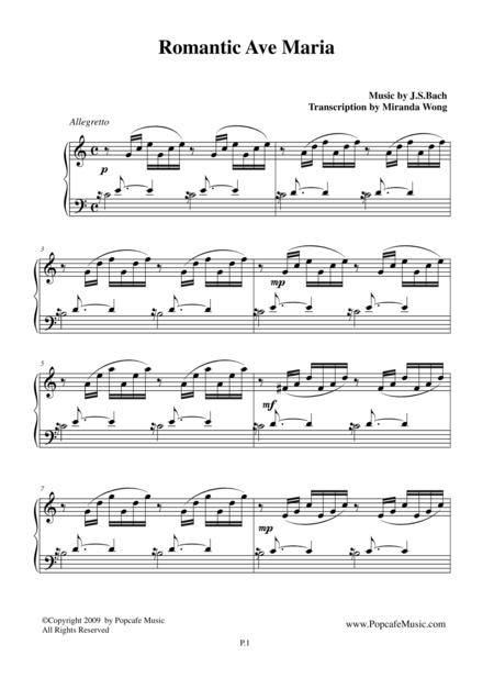 Romantic Ave Maria - Famous Piano Music No.7