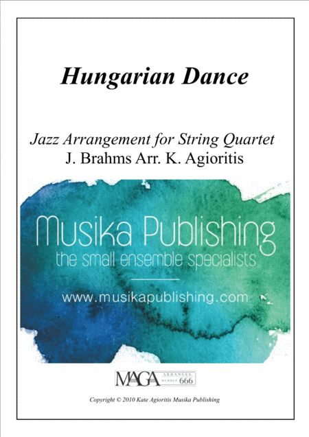 Hungarian Dance - in a Jazz Style - for String Quartet