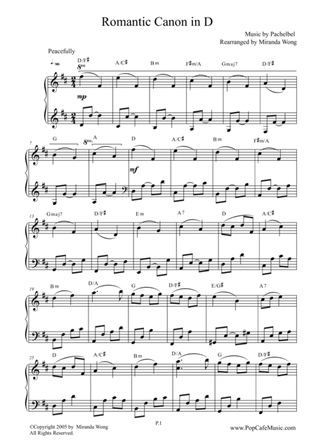 Romantic Canon in D - Beautiful Version