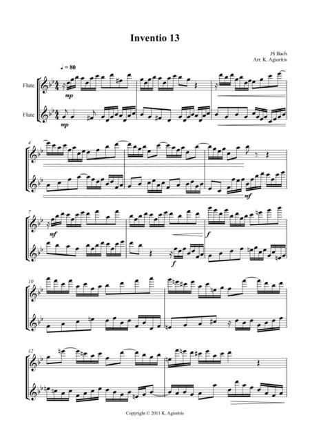 Inventio - Duet for 2 Flutes
