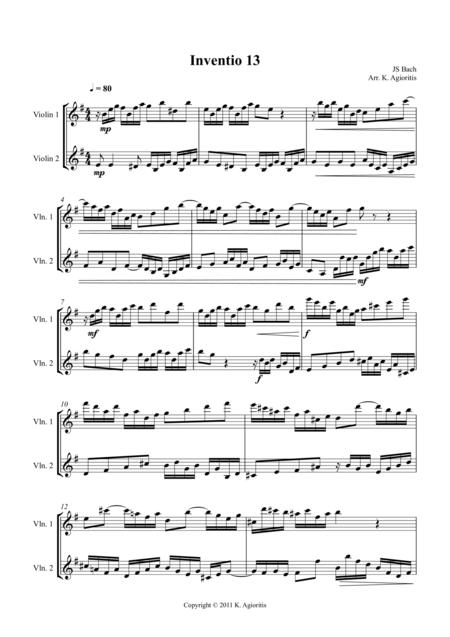 Inventio - Duet for 2 Violins
