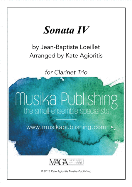 Sonata IV - for Clarinet Trio