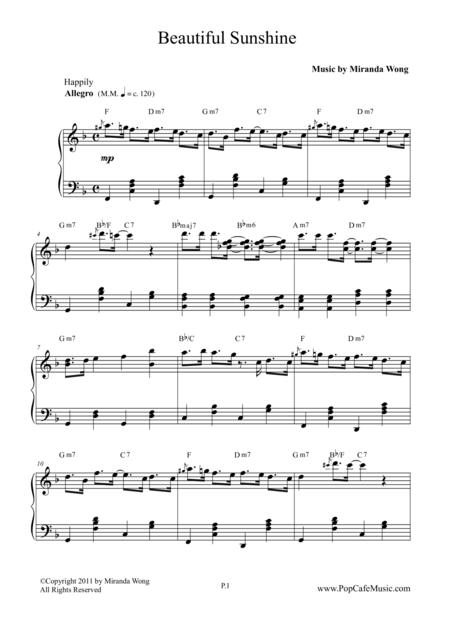 Beautiful Sunshine - Popular Jazz for Piano No.1