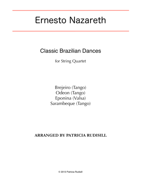 Classic Brazilian Dances by Ernesto Nazareth