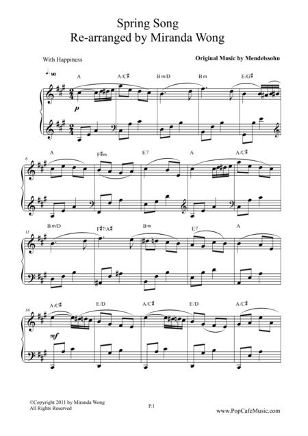 Spring Song - Wedding Version