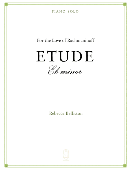 Etude in Eb minor (Piano Solo)