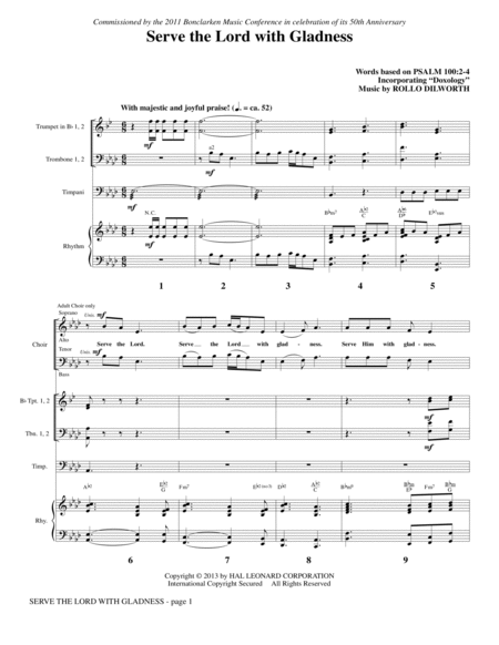 Serve the Lord with Gladness - Full Score