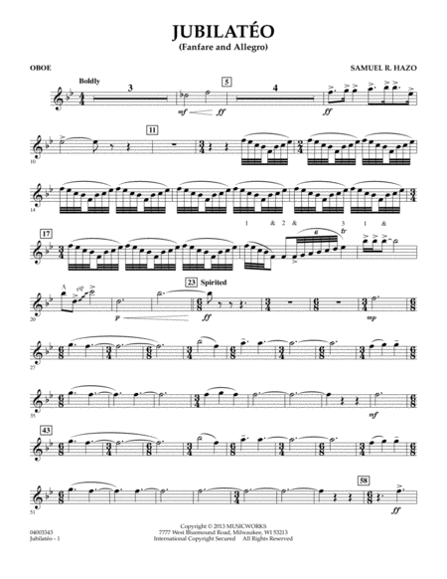 Jubilateo - Oboe