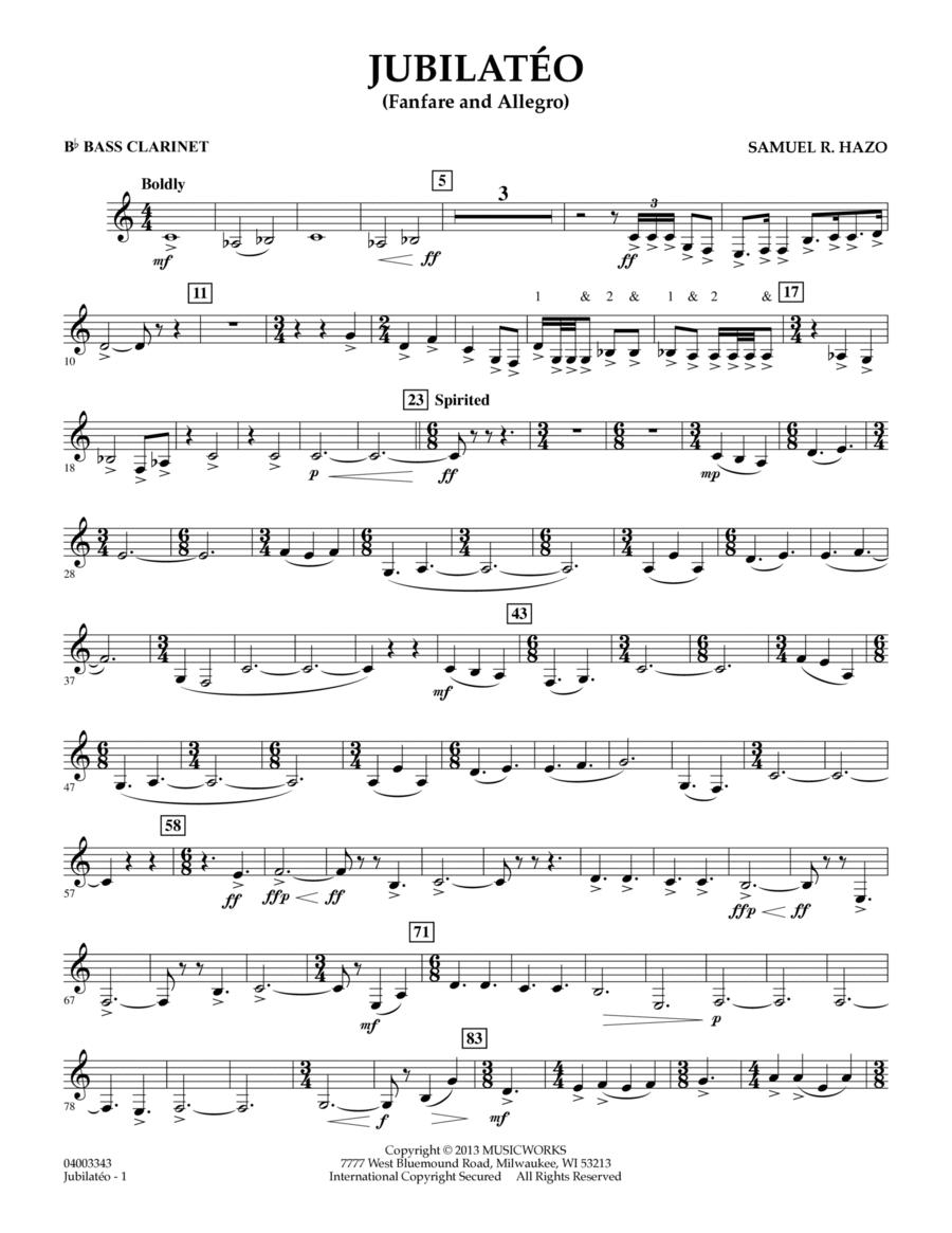 Jubilateo - Bb Bass Clarinet