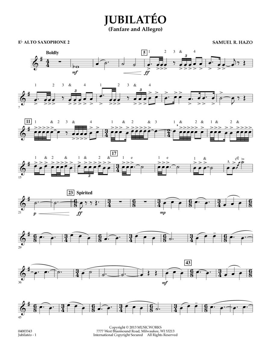 Jubilateo - Eb Alto Saxophone 2