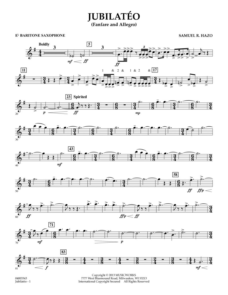 Jubilateo - Eb Baritone Saxophone