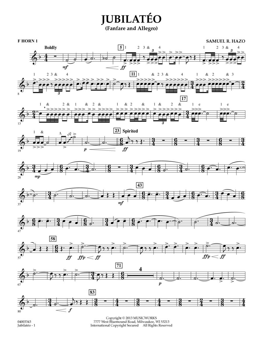 Jubilateo - F Horn 1