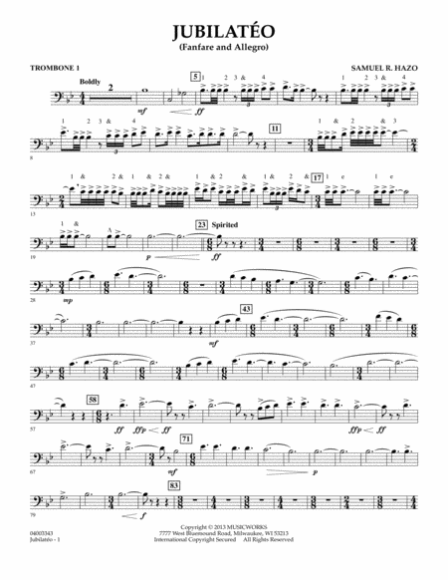 Jubilateo - Trombone 1