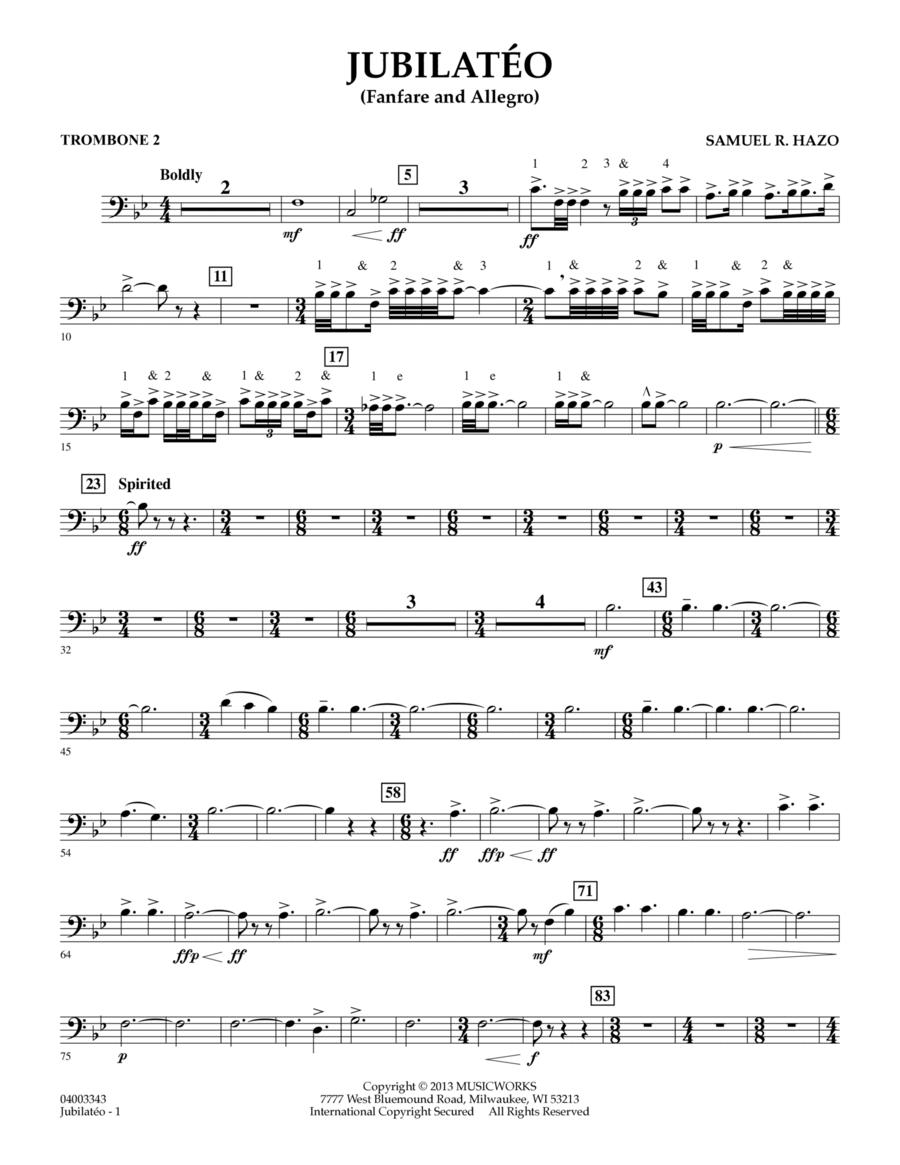 Jubilateo - Trombone 2