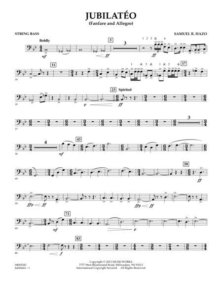 Jubilateo - String Bass