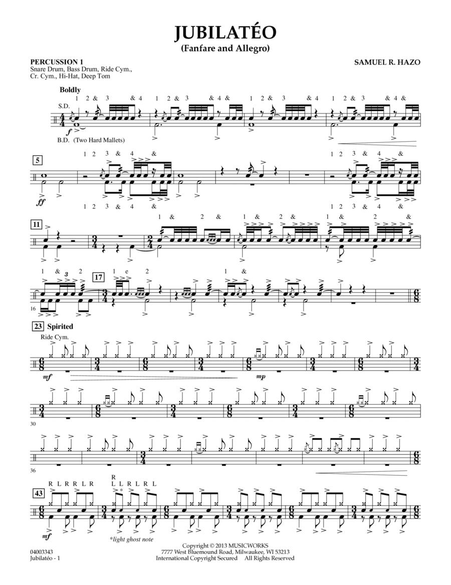 Jubilateo - Percussion 1