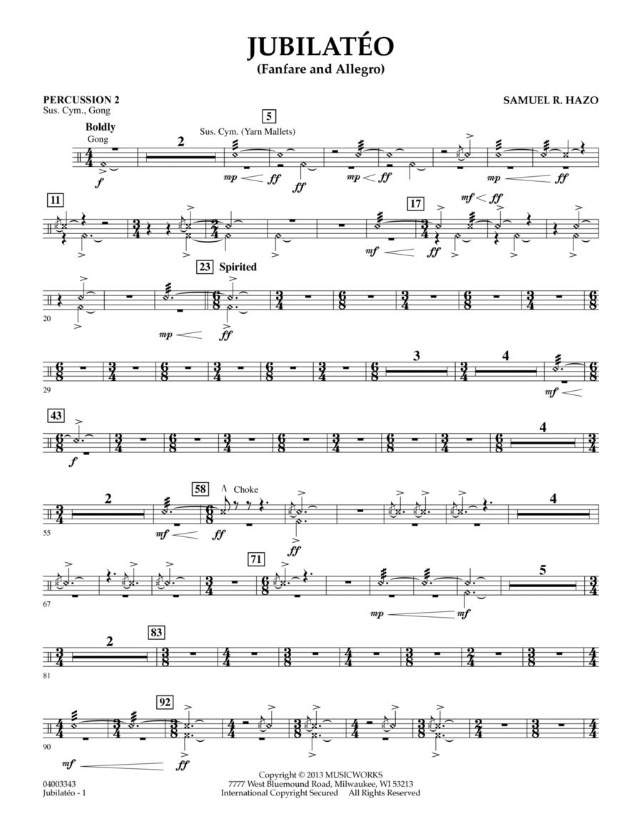Jubilateo - Percussion 2