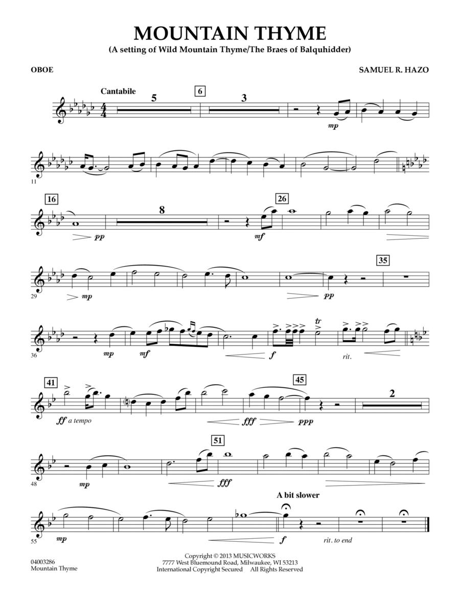 Mountain Thyme - Oboe