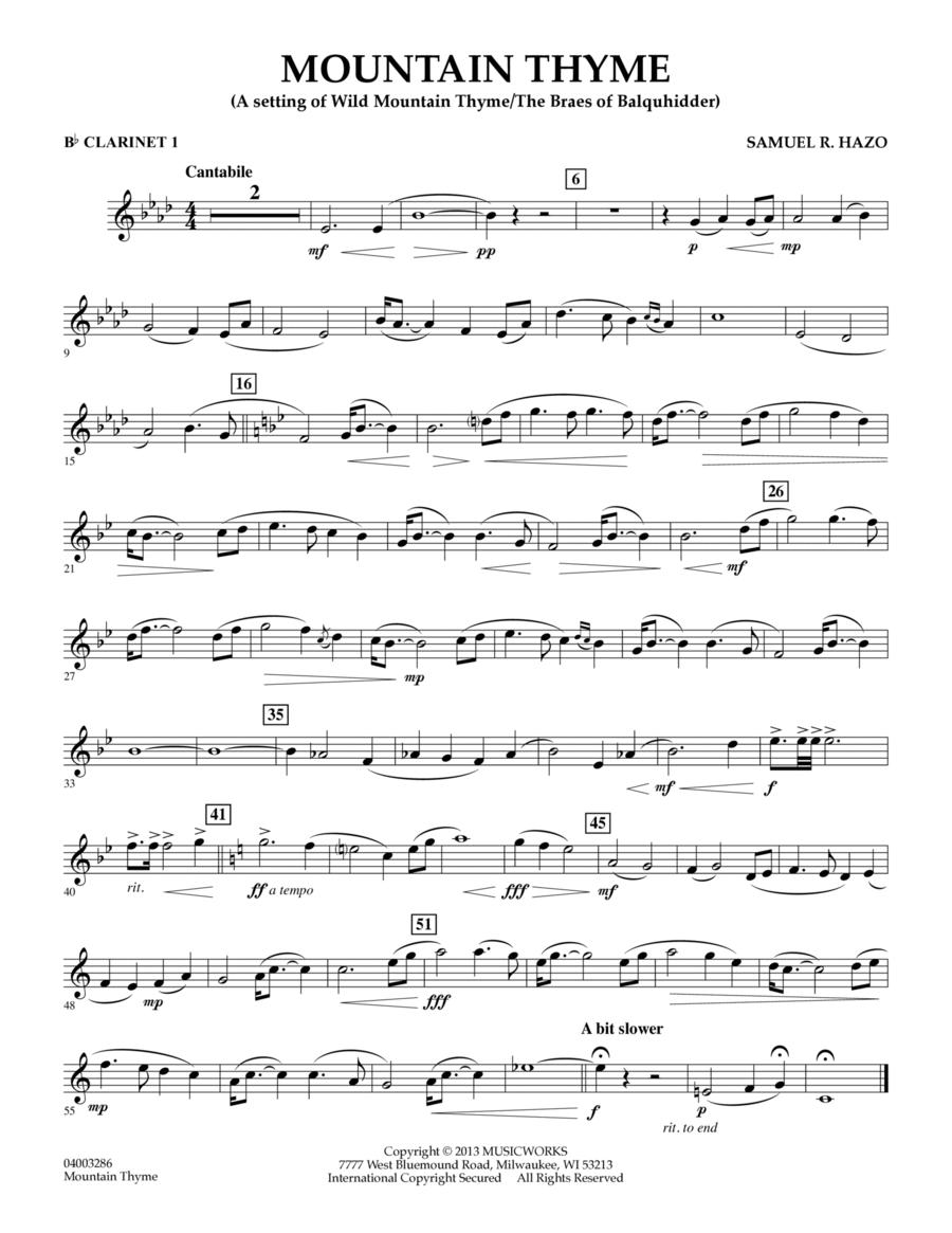 Mountain Thyme - Bb Clarinet 1