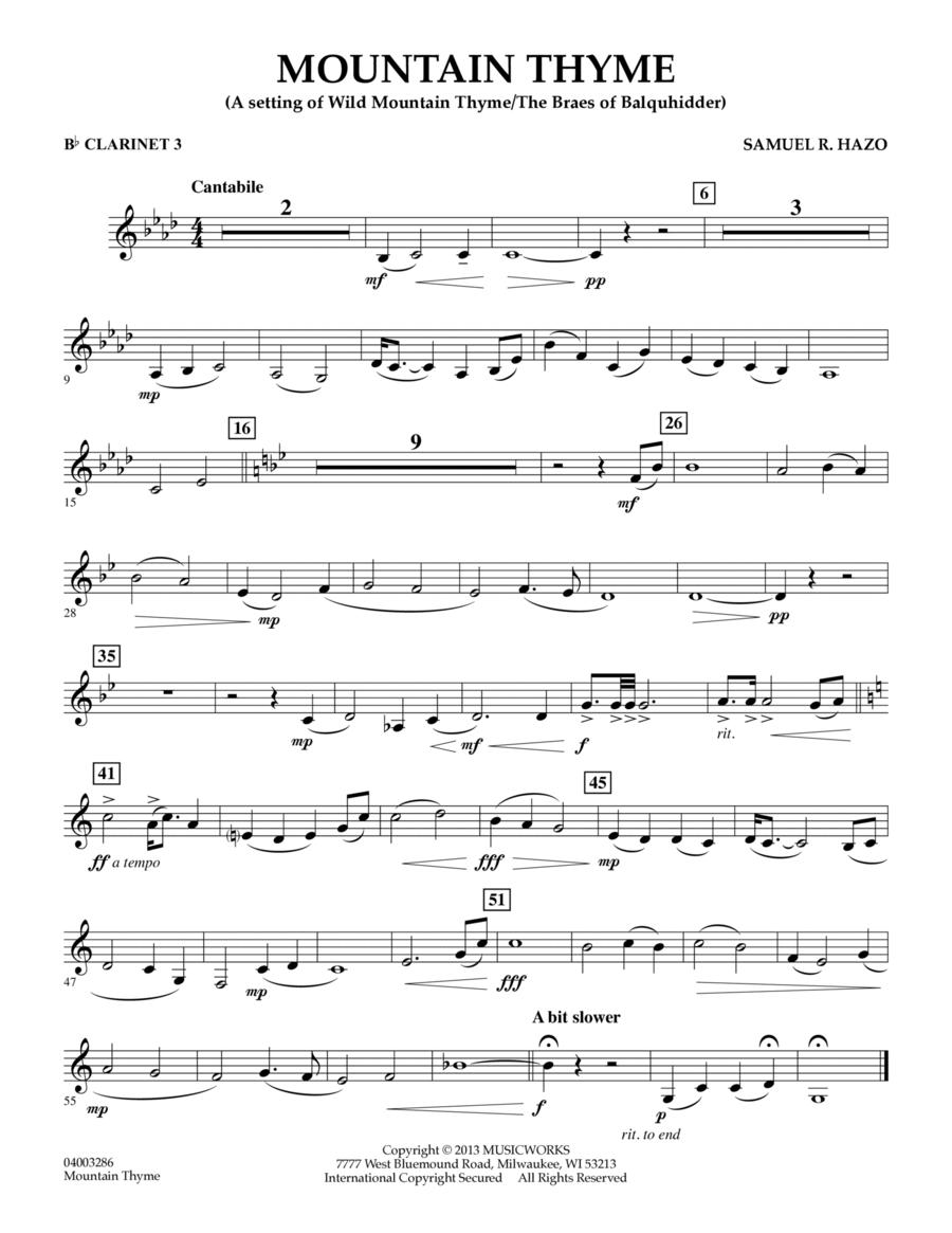 Mountain Thyme - Bb Clarinet 3