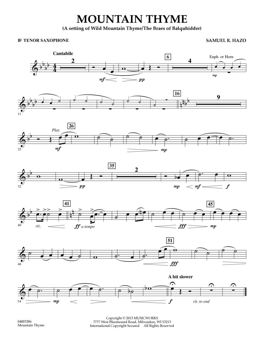 Mountain Thyme - Bb Tenor Saxophone