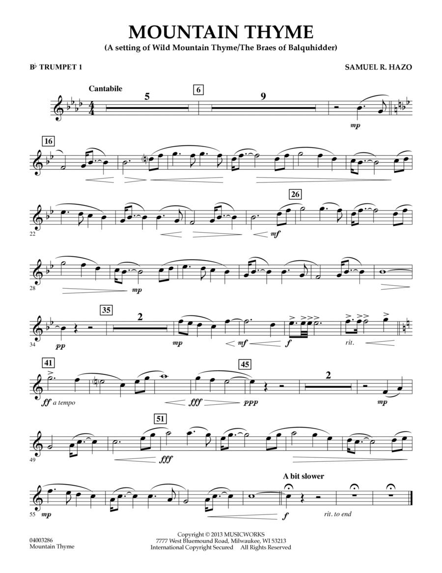 Mountain Thyme - Bb Trumpet 1