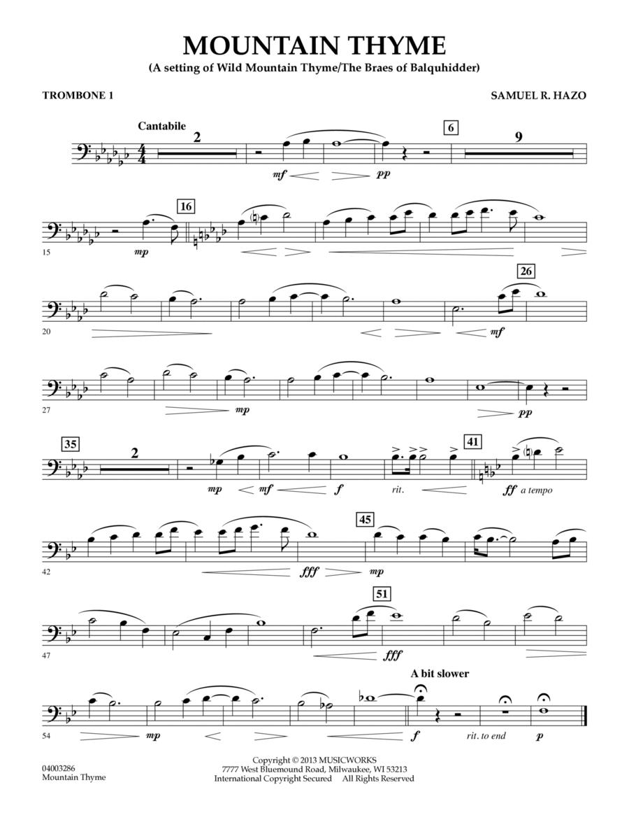 Mountain Thyme - Trombone 1