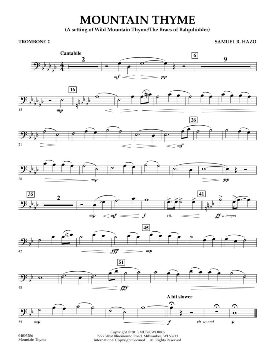 Mountain Thyme - Trombone 2